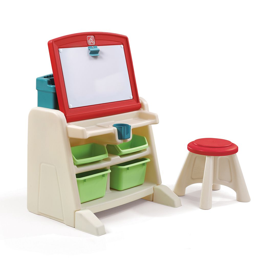 Step2 Flip And Doodle Easel Desk with Stool