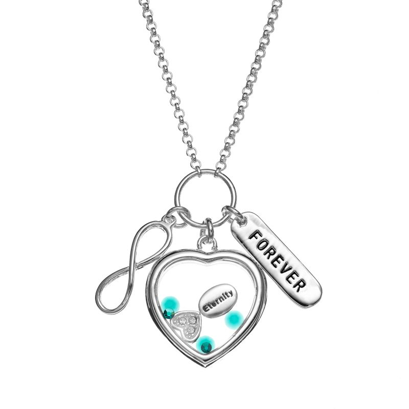heart shaped charms necklace kohls