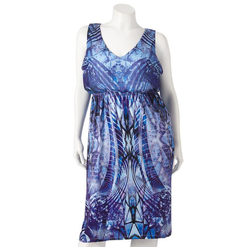 Apt. 9 Printed High-Low Hem Maxi Dress - Women's Plus