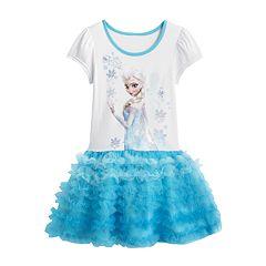 Disney Frozen Elsa Tutu Dress -  Girls 4-6X