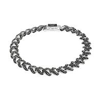 Le Vieux Silver-Plated Marcasite Bracelet - Made with Swarovski Marcasite