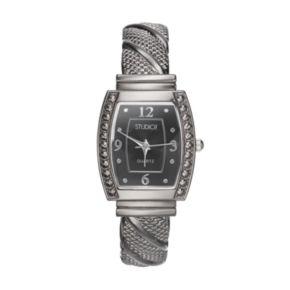 Studio Time Women's Textured Twist Cuff Watch