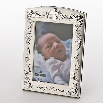 Malden International Designs Baby's Baptism 4'' x 6'' Frame