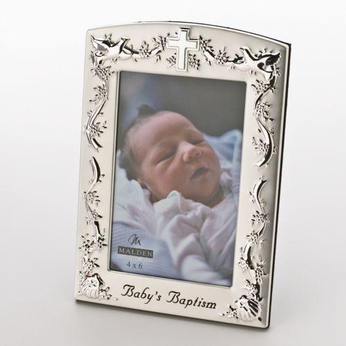 Malden International Designs Baby's Baptism 4'' x 6'' Frame