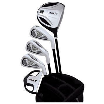 Merchants of Golf Tour X Left Hand 5-Club Junior Golf Club & Bag Set - Youth