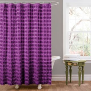Lush Decor Emma Fabric Shower Curtain
