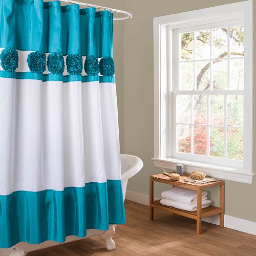 Lush Decor Seascape Fabric Shower Curtain