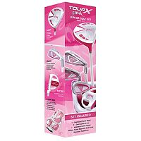 Merchants of Golf Tour X Pink Right Hand 5-Club Golf Club & Bag Set - Girls