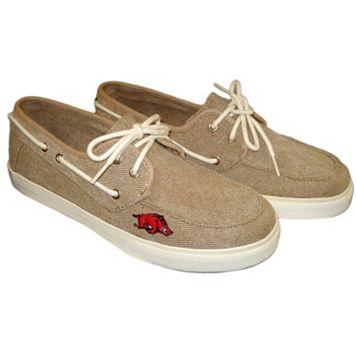 Men's Arkansas Razorbacks Captain Boat Shoes