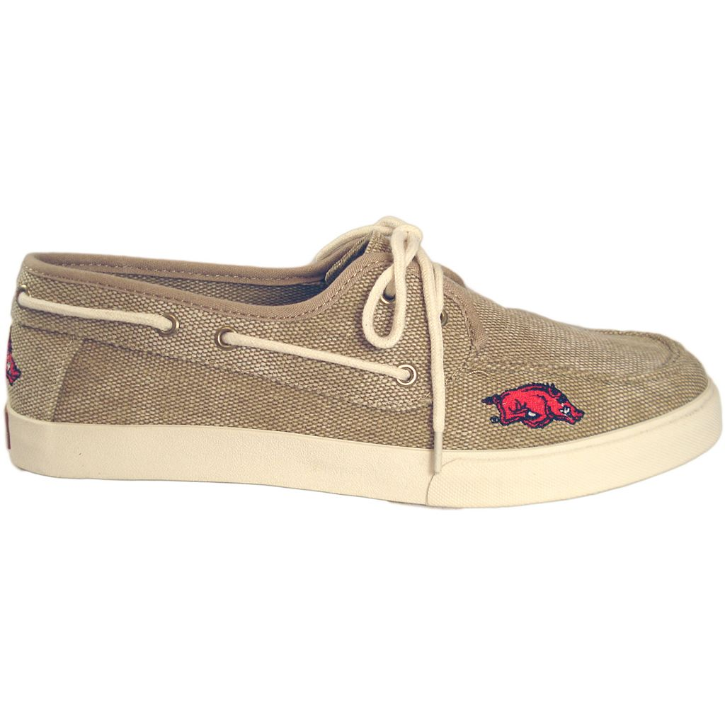 Men's Arkansas Razorbacks Captain Boat Shoes