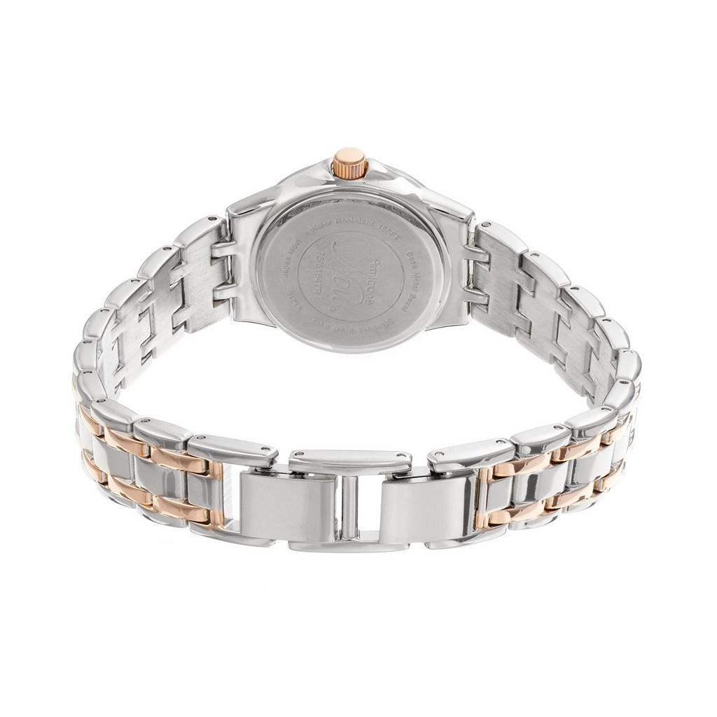 Armitron Women's NOW Crystal Two Tone Watch - 75/5194MPTR