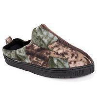 MUK LUKS Men's Camouflage Fleece Clog Slippers