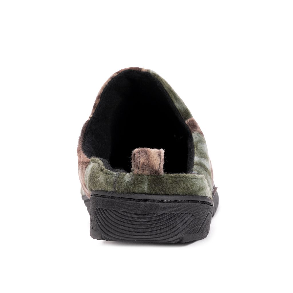 MUK LUKS Men's Camouflage Fleece Clog Slippers