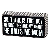 ''He Calls Me Mom'' Wall Plaque