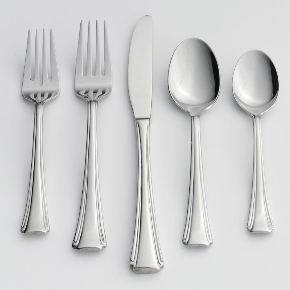 bordeaux 20 pc flatware set
