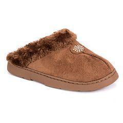 Women's MUK LUKS Snowflake Clog Slippers