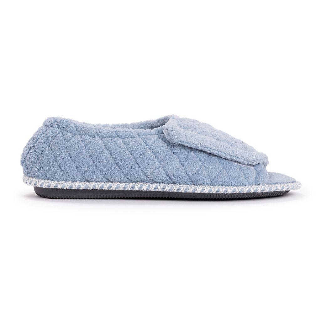 MUK LUKS Women's Peep-Toe Slippers