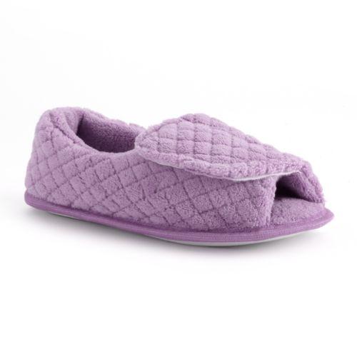 MUK LUKS Peep-Toe Slippers - Women