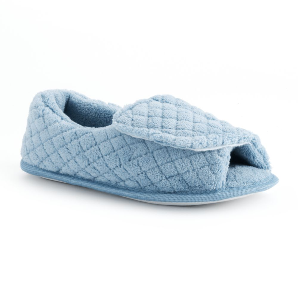 MUK LUKS Women's Peep-Toe ... Slippers