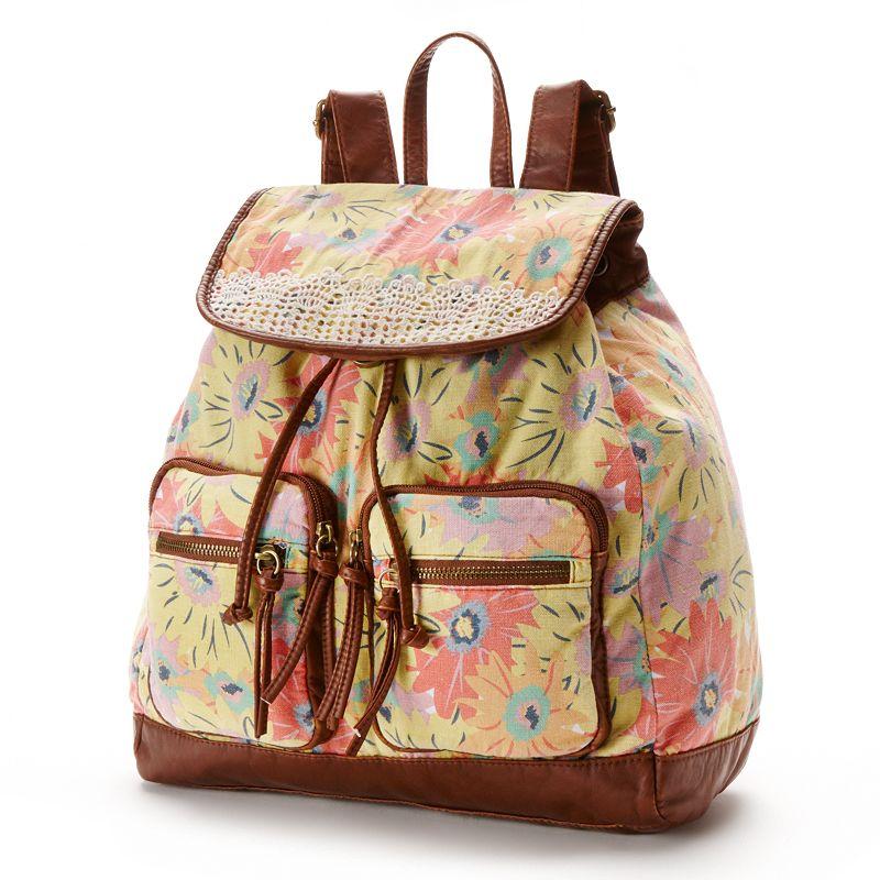 Mudd Floral Crochet Backpack