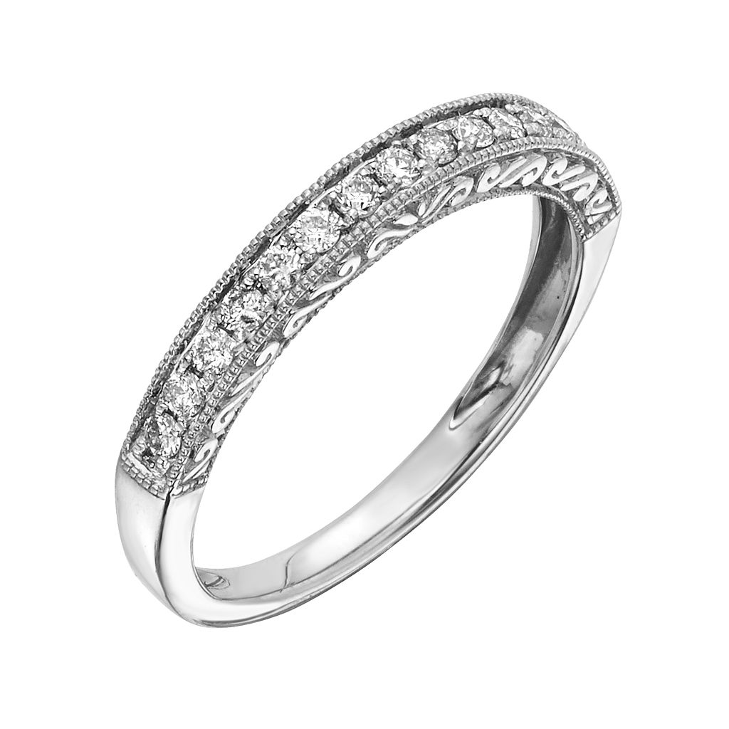 14k Gold 1/4-ct. T.W. IGL Certified Diamond Wedding Ring