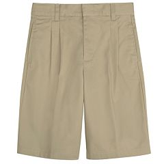 Boys 8-20 Husky French Toast School Uniform Pleated Shorts