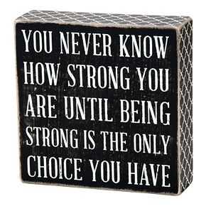 ''Being Strong'' Wall Plaque
