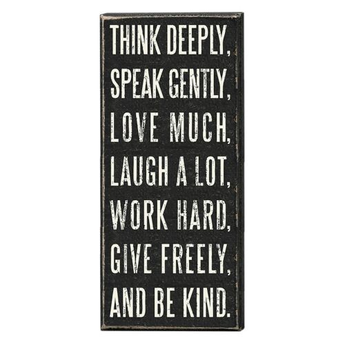 Think Deeply Wall Plaque