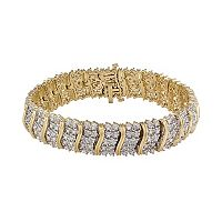14k Gold Over Silver 2-ct. T.W. Diamond Tennis Bracelet