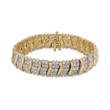 14k Gold Over Silver 2-ct. T.W. Diamond Tennis Bracelet