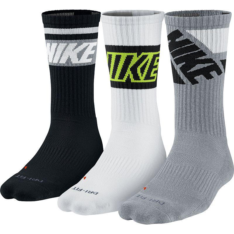 Nike 3-Pack Dri-FIT Crew Socks - Men