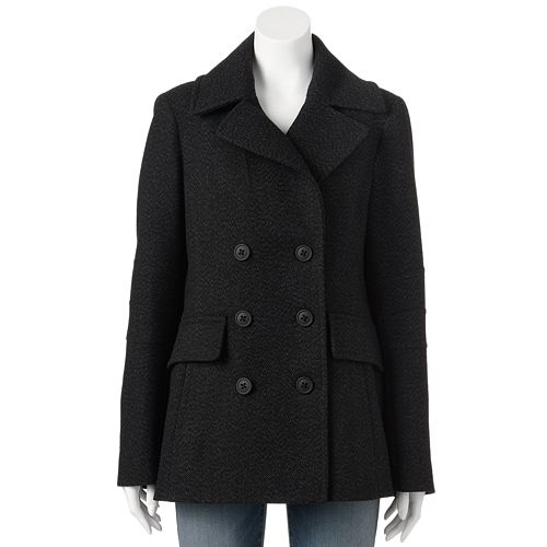 Women's Apt. 9® Double-Breasted Wool-Blend Peacoat