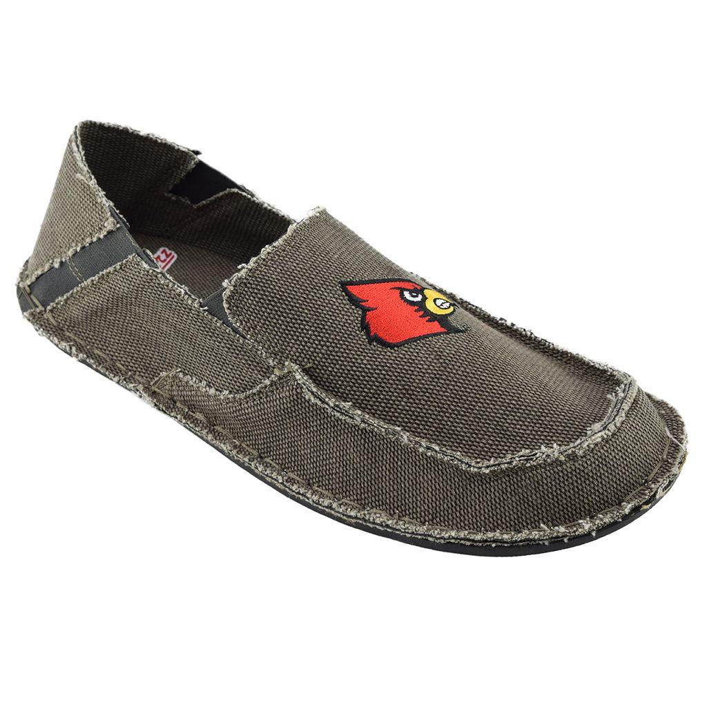Men's Louisville Cardinals Cazulle Canvas Loafers