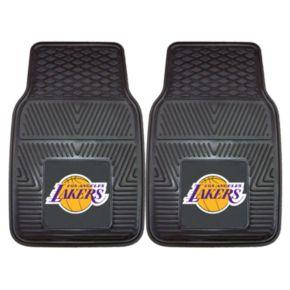 FANMATS 2-pk. Los Angeles Lakers Heavy Duty Car Floor Mats