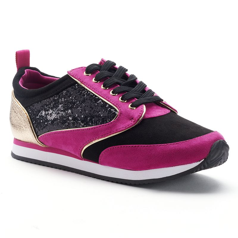 Juicy Couture Pink Glitter Athletic Shoes - Women's