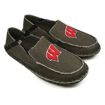 Men's Wisconsin Badgers Cazulle Canvas Loafers