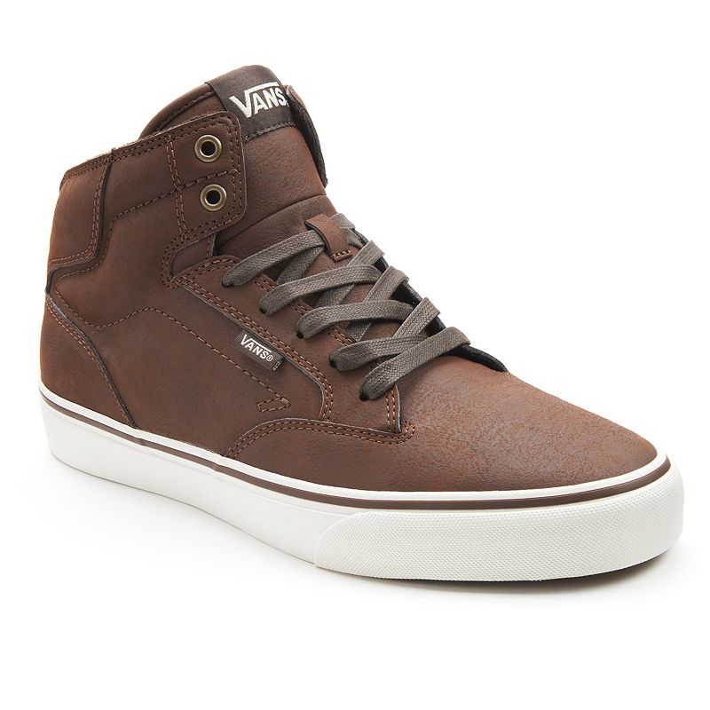 Vans Brown Winston High-Top Skate Shoes - Men's