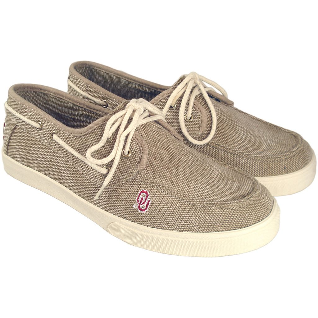 Men's Oklahoma Sooners Captain Boat Shoes