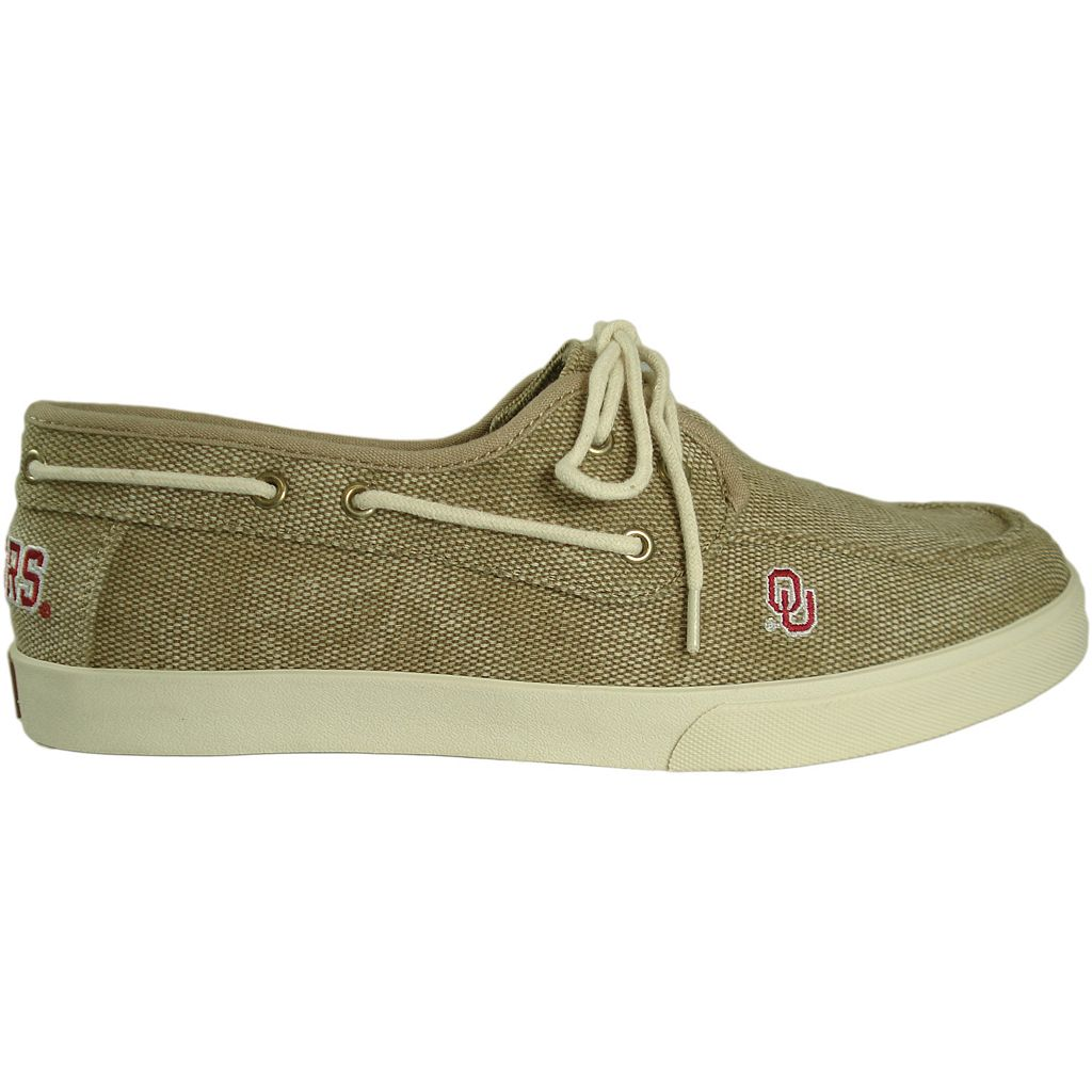 Men's Oklahoma Sooners Captain Boat Shoes