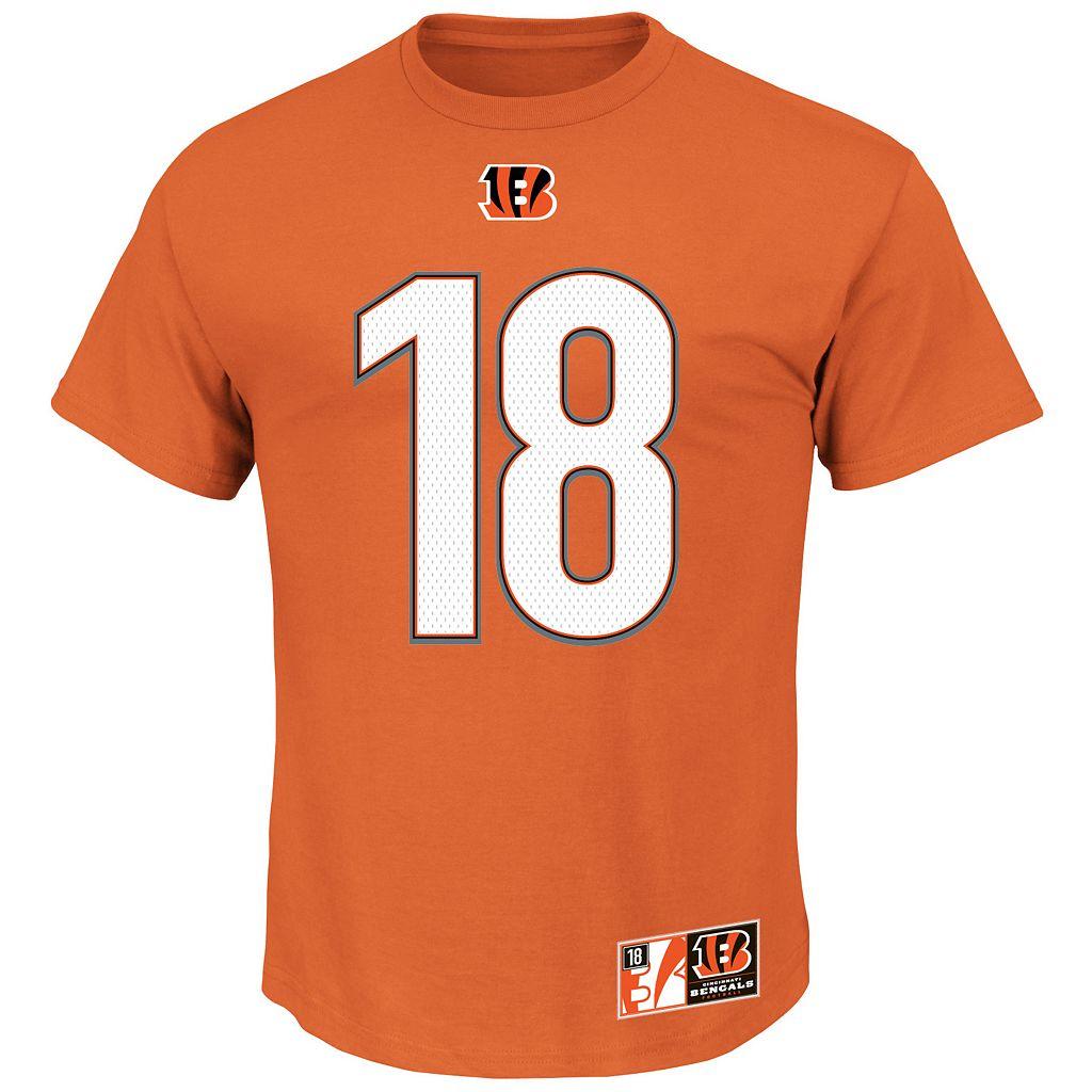 Men's Majestic Cincinnati Bengals AJ Green The Eligible Receiver II Tee