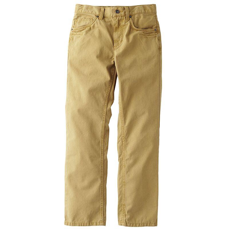 Urban Pipeline Slim-Fit Vintage Chinos - Boys 8-20 Husky (Beige/Khaki)