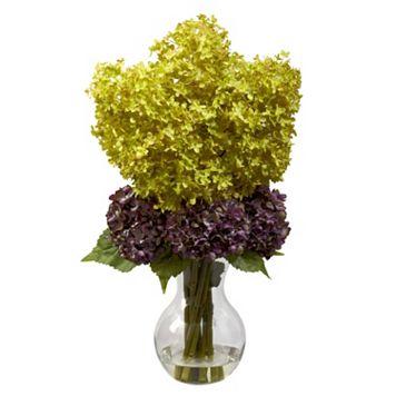 nearly natural Bostonian Hydrangea Floral Arrangement