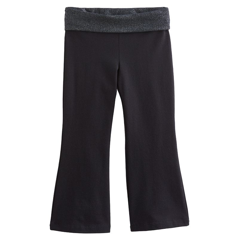 Jumping Beans Foiled Fold-Over Yoga Pants - Toddler