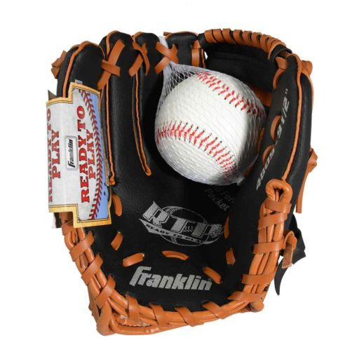 Franklin Sports 9.5-in. Left Hand Throw T-Ball Glove and Ball Set - Youth