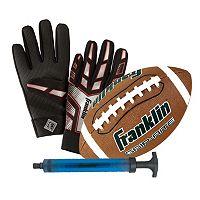 Franklin Sports Junior Grip-Rite Football & Receiver Gloves Set