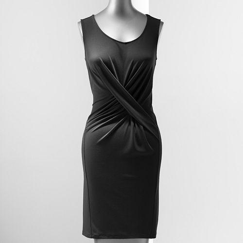 782d8092bcc Simply Vera Vera Wang Simply Separates Crisscross Crepe Sheath Dress ...
