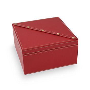 Bey-Berk Stud Leather Jewelry Box