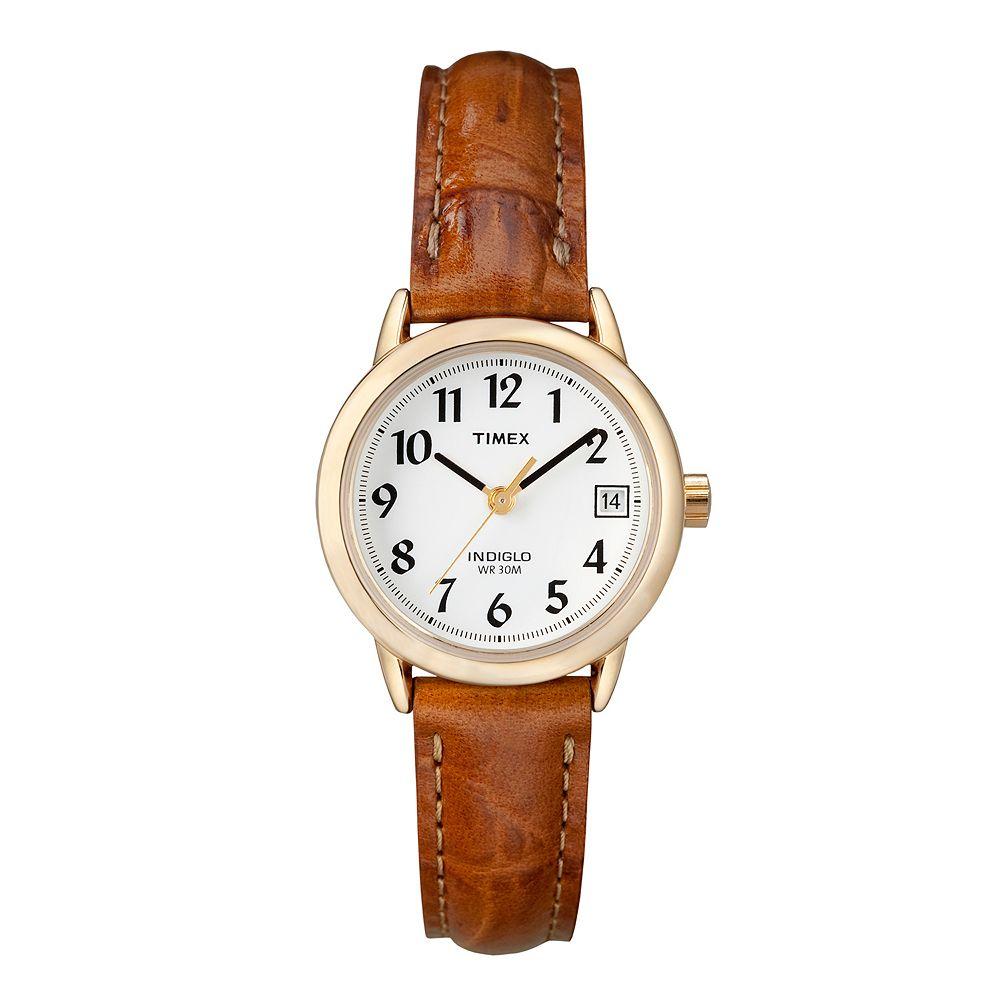 Timex® Women's Easy Reader Leather Watch - T2J761KZ
