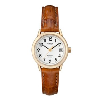 Timex women 39 s easy reader leather watch t2j761kz for Watches kohls