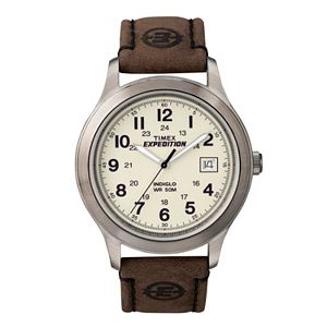 Timex Men's Expedition Leather Watch - T49870KZ